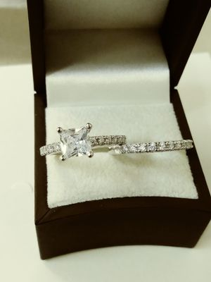 New with tag Solid 925 Sterling Silver ENGAGEMENT WEDDING Ring Set size 6 or 7 $150 each set OR BEST OFFER for Sale in Phoenix, AZ