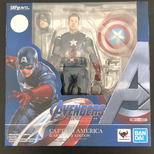 SH Figuarts Avengers Endgame Captain America CAP VS CAP Avengers 1 Edition for Sale in Chino, CA