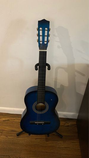 Blue acoustic guitar for Sale in Fort Lauderdale, FL