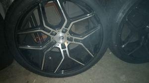20'inc black n silver D-Star rims. for Sale in McDonough, GA