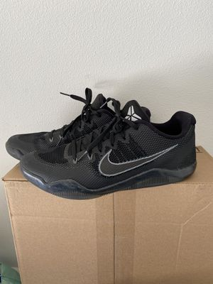 """Kobe Bryant KOBE 11 EM Low """"Black Cool Grey"""" Size 12 Nike Basketball shoes Lakers for Sale in Irvine, CA"""