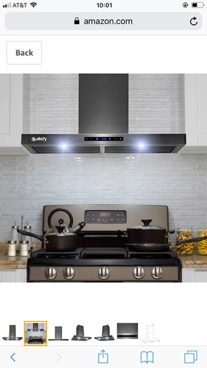"AKDY 30"" Wall Mount Brushed Black Stainless Steel Touch Panel Kitchen Range Hood Cooking Fan for Sale in Hacienda Heights, CA"