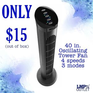 40 in. Oscillating Tower Fan for Sale in Moreno Valley, CA
