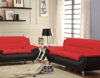 Sofa And Loveseat Very economical, In White And Red And Black for Sale in Miami,  FL