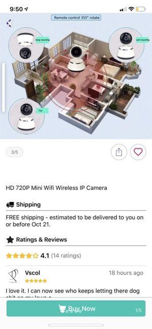 HD 720P Mini Wifi Wireless IP Camera Condition: New for Sale in Cincinnati, OH