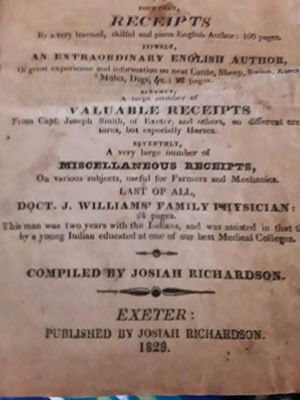 1828 The New England and Family Physician for Sale in Coventry, RI