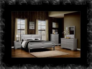 11pc Grey Marley bedroom set with mattress for Sale in Ashburn, VA