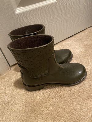 Coach Rain boots size 6 like new for Sale in Arlington, VA
