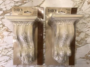 Fashion Trends Kirsch Traditional Soft White Bracket For Curtain Rods Set Of 2 for Sale in Livermore, CA