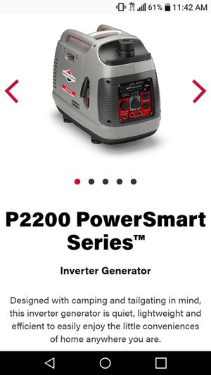 Briggs and stratton 2200 powersmart series inverter generator for Sale in Columbus, OH