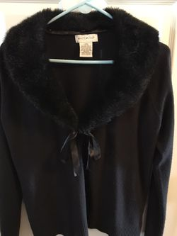 Black sweater with Faux Fur Collar smoke-free pet free home for Sale in Imperial,  MO