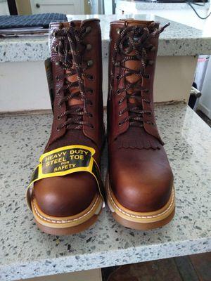 Leather Steel Toe Work Boots-Bota de Trabajo de Casquillo de Piel de Mexico for Sale in Orange, CA
