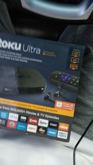 Roku ultra includes jbl head phones!!!! for Sale in Tucson, AZ