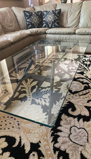 Glass top coffee table like new never used for Sale in West Bloomfield Township, MI