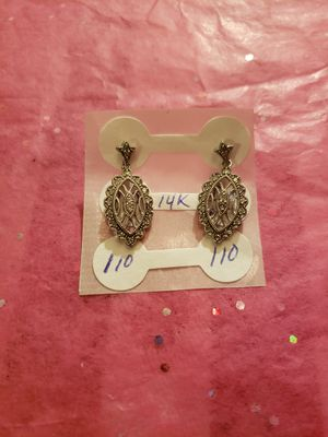 14k white gold earrings with diamonds for Sale in Duluth, GA
