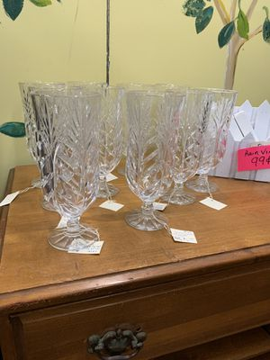 Lead crystal goblets for Sale in Conway, AR