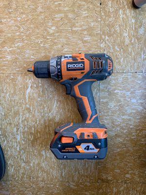 Ridgid Cordless Drill for Sale in San Jose, CA