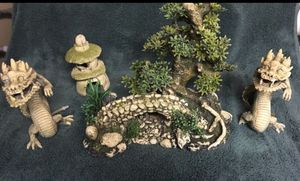 Aquarium fish tank decorations Asian dragon for Sale in Joint Base Lewis-McChord, WA
