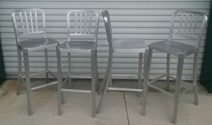 Set of 4 Aluminium Bar Stools Chairs High Top for Sale in Clermont, FL