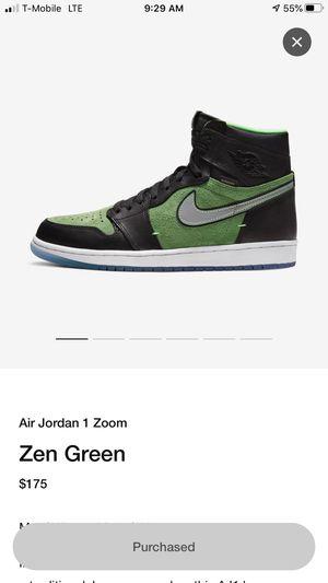 Jordan 1 Zoom zen green for Sale in Wauconda, IL