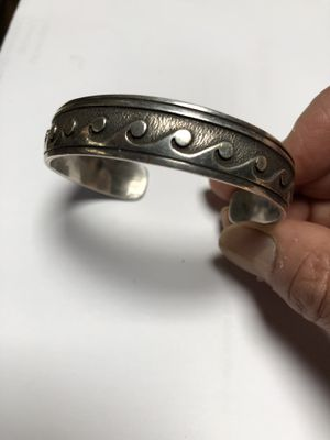 Vintage sterling Native American silver cuff for Sale in Wayland, MA