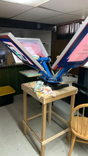 4 color screen printer for Sale in Trenton, MI