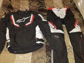 Alpinestars Motorcycle Jacket (M) And Pants (S) Protective Gear Suit for Sale in Austell,  GA