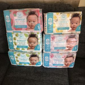 Honest Diapers Size 1 - Six Packs for Sale in Coronado, CA