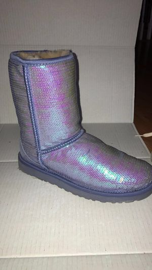 Sz 8 Purple Sequin Ugg Boots for Sale in Houston, TX