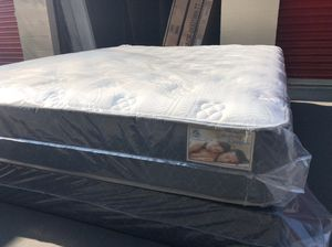 Brand new/good quality and very comfortable Queen size mattress and box spring.Free delivery for Sale in Vallejo, CA