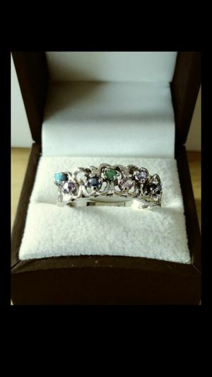*ANTIQUE UNIQUE* Solid 14k White Gold NATURAL COCKTAIL STONES ring size 10 $460 OR BEST OFFER ** WE SHIP!!📦📫 ** for Sale in Phoenix, AZ