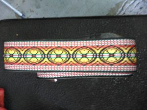 Jamaican colors woven guitar bass shoulder strap pre owned never used for Sale in Miami, FL