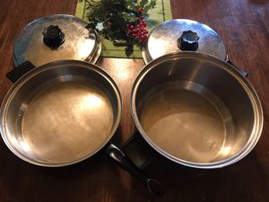 Luster craft frying pan and stock pot with lids for Sale in Puyallup, WA