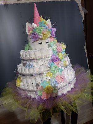 Unicorn Diaper Cake for Sale in Houston, TX