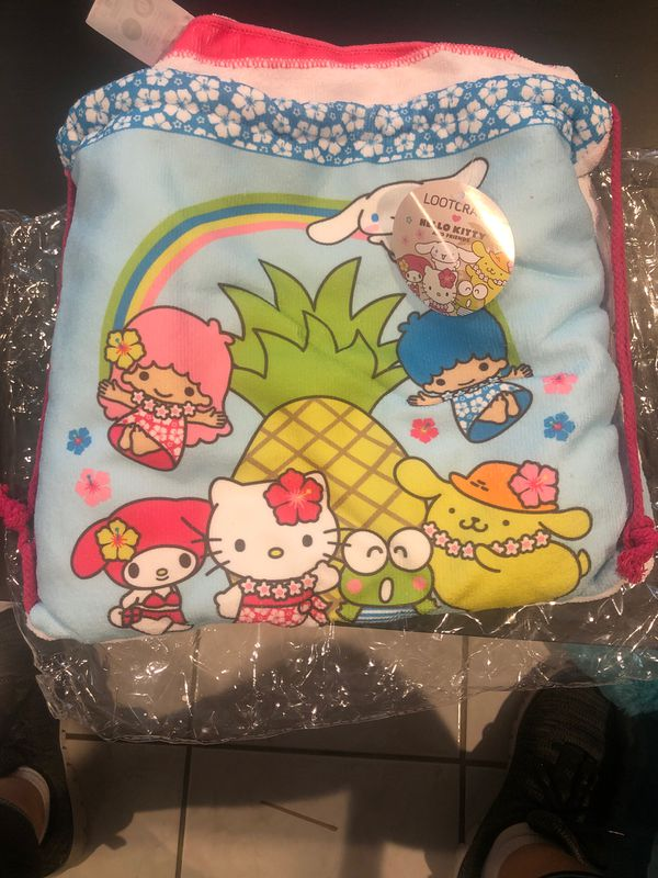Hello kitty towel in a bag