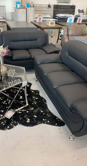 💲39 Down Payment. ❗❗ Enna Black Sofa & Loveseat | U2701 for Sale in Laurel, MD