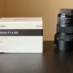 Sigma 50mm 1.4DG Art Lens For Nikon Cameras for Sale in Beaverton, OR