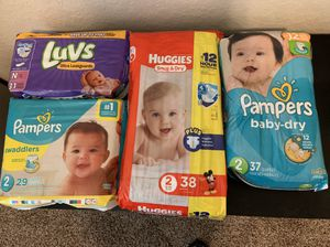 Huggies, Pampers & Luvs Diapers, all UNOPENED size N - 2 for Sale in San Antonio, TX