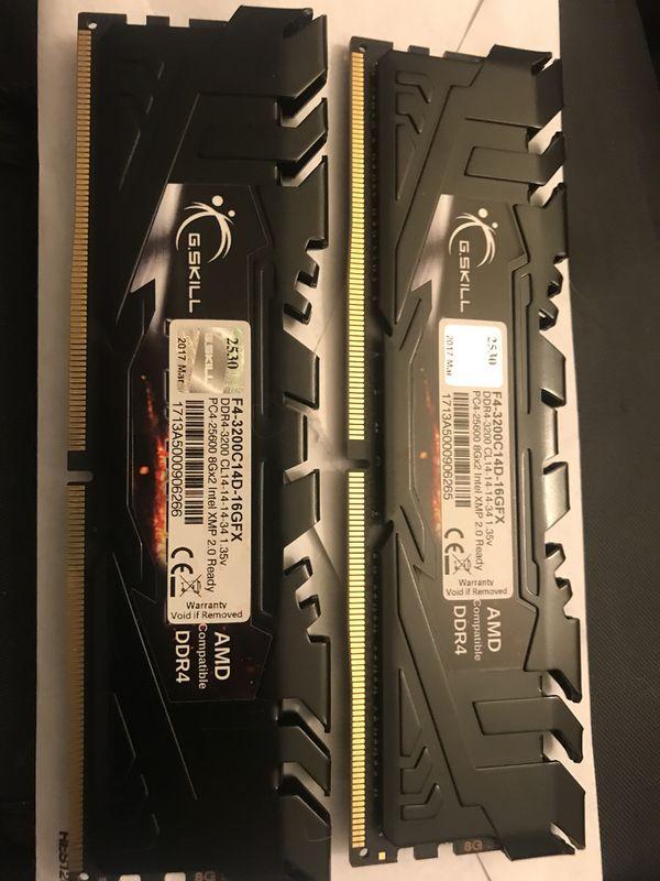 16 GB G.Skill flareX DDR4-3200 RAM