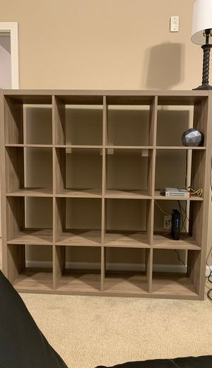 4x4 extra-storage shelving unit bookcase for Sale in Wilsonville, OR