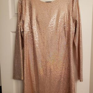 Brush Colored Sequin Dress, Size Large for Sale in Braselton, GA