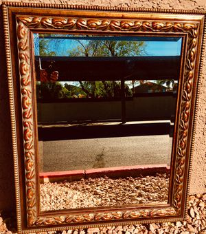 Large carved wood framed mirror L37xW31 inch for Sale in Sun Lakes, AZ