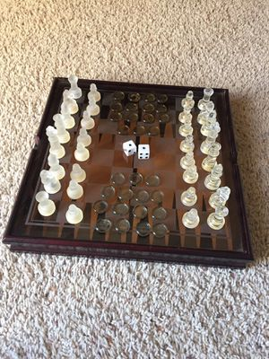 3 game wooden/glass set for Sale in Holt, MO