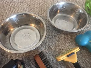 2 Large dog Heavy duty metal feed dishes for Sale in Indianapolis, IN
