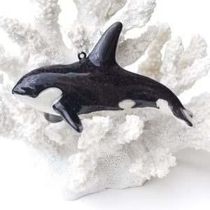 "CHRISTMAS IN JULY SPECIAL! Brand New! 4 1/4"" Orca Whale Ornaments Coastal Nautical SHIPPING IS AVILABLE for Sale in Miami, FL"
