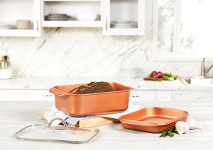 Copper Chef Wonder Cooker 3 Piece Cookware Set Roaster Pan Nonstick Grill for Sale in Verona, NJ