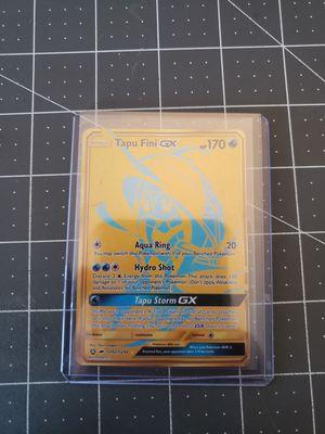 Pokemon Rare gold Tapu Fini GX card hidden fates for Sale in San Diego, CA