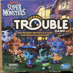 Super Monsterss trouble game for kids new in box for Sale in Long Beach, CA