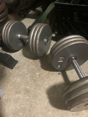60LBS DUMBELLS (2) for Sale in Queens, NY