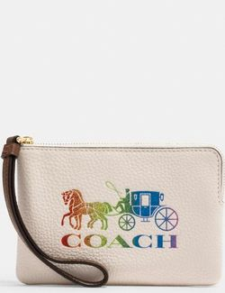 Corner Zip Wristlet With Rainbow Horse And Carriage for Sale in Milton,  MA